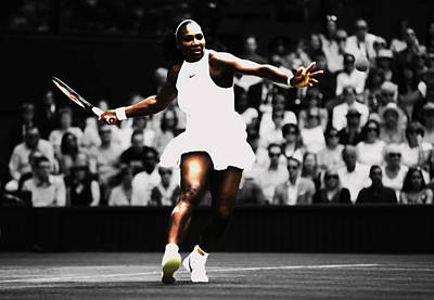 Serena Williams Defining Moment Art Print by Brian Reaves