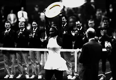 Serena Williams Eye On The Prize Art Print