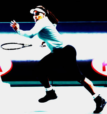 Serena Williams Hot Pursuit Art Print