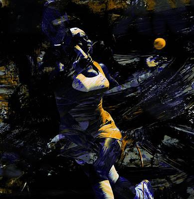Serena Williams Keep Grinding Art Print by Brian Reaves