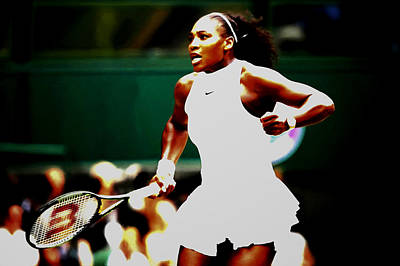 Venus Williams Mixed Media - Serena Williams Making History by Brian Reaves