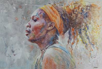 Serena Williams Painting - Serena Williams - Portrait 3 by Baris Kibar