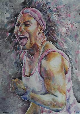 Serena Williams - Portrait 4 Original by Baresh Kebar - Kibar