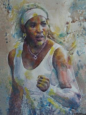 Serena Williams Painting - Serena Williams - Portrait 5 by Baresh Kebar - Kibar