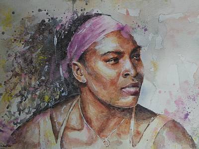 Serena Williams Painting - Serena Williams - Portrait 6 by Baris Kibar