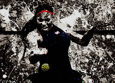 Serena Williams S4e Art Print by Brian Reaves