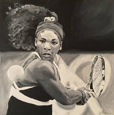 Serena Williams Painting - Serena Williams by Sarah LaRose Kane