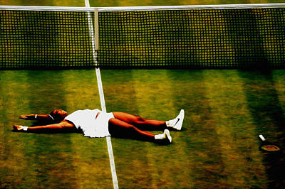 Serena Williams History Made Art Print