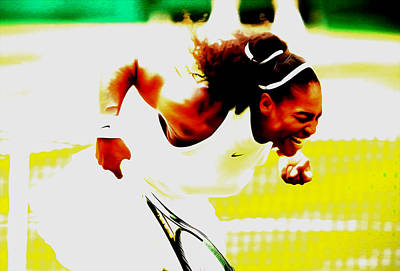 Mixed Media - Serena Williams Still I Rise by Brian Reaves