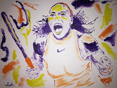 Serena Williams Painting - Serena Williams Wins Wimbledon by Jack Bunds