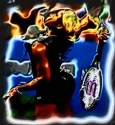 Venus Williams Painting - Serena Williams Thermal Catsuit by Brian Reaves