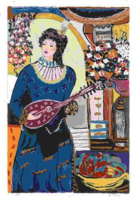 Ap Painting - Serenade - Signed - Artist's Proof by Bracha Guy