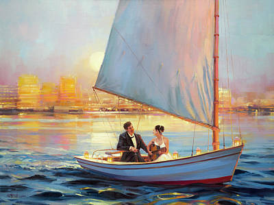 Glass Art Painting - Serenade by Steve Henderson