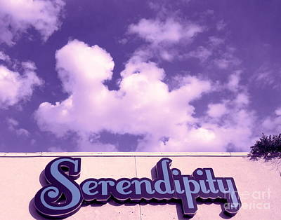 Photograph - Serendipity Sign Arizona by Marlene Rose Besso