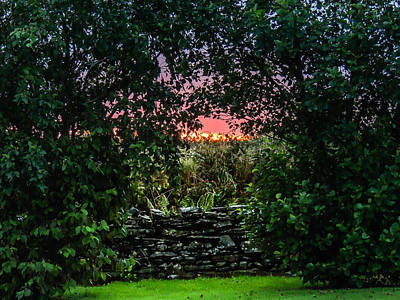 Photograph - Serene Autumn Irish Sunset by James Truett