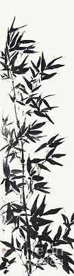 Serene Bamboo Art Print by Nadja Van Ghelue