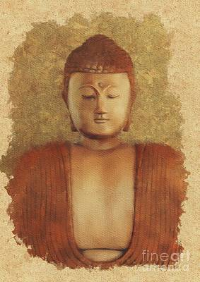 Valentines Day - Serene Buddha by Esoterica Art Agency