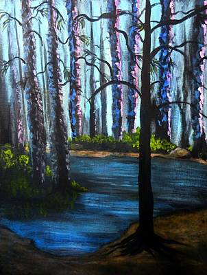 Painting - Serene Forrest by Anne Sands