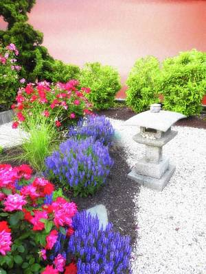 Digital Art - Serene Garden by Suzanne Handel