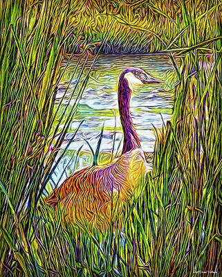 Digital Art - Serene Goose Dreams by Joel Bruce Wallach