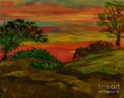 Painting - Serene Hillside II by Marie Bulger