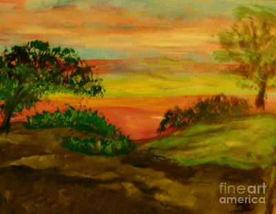 Painting - Serene Hillside I by Marie Bulger