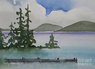Painting - Serene Morning On Lake Superior by Penny Stroening