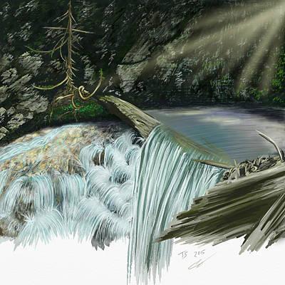 Digital Art - Serene Oasis Of Stagger Inn by Troy Stapek
