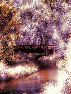 Serene River Bridge Art Print