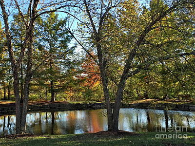 Photograph - Serene Scene At The Park by Barbara Plattenburg