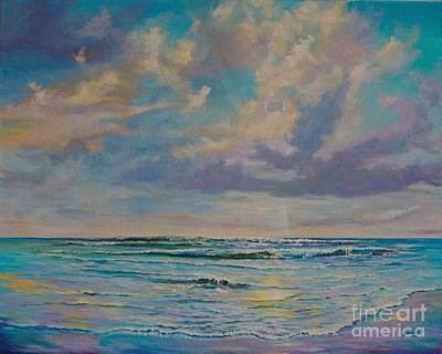 Serene Sea Art Print by AnnaJo Vahle