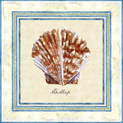 Painting - Serene Shores - Scallop Shell by Audrey Jeanne Roberts