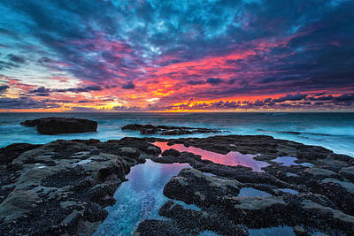 Rocks Photograph - Serene Sunset by Robert Bynum