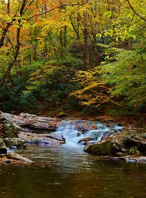 Giuseppe Cristiano Royalty Free Images - Serene Waterfall in the Woods Royalty-Free Image by Patricia Twardzik