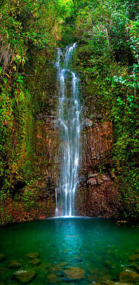 Serene Waterfall Art Print by Monica and Michael Sweet