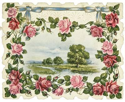 Floral Photograph - Serene Waterside Landscape In Rose by Gillham Studios