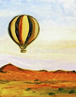 Painting - Serengeti Balloon Ride by Kara Evelyn-McNeil