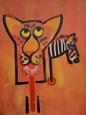Serengeti Cat Art Print by Charles Stuart