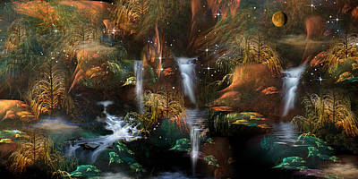 Newts Digital Art - Serenitas by Phil Sadler