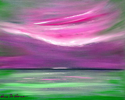 Painting - Serenity 3 - Abstract Sunset by Gina De Gorna