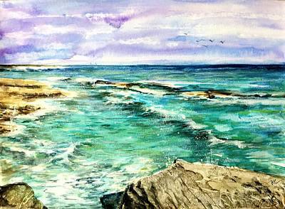 Painting - Serenity 4 by Katerina Kovatcheva
