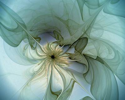 Floral Digital Art Digital Art - Serenity by Amanda Moore