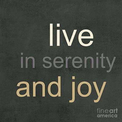 Serenity And Joy Art Print by Linda Woods