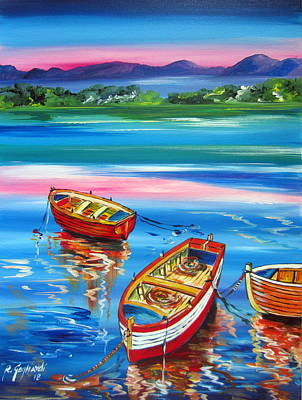 Painting - Serenity At Sunset by Roberto Gagliardi