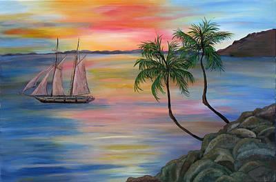 Serenity Bay Art Print by Mikki Alhart