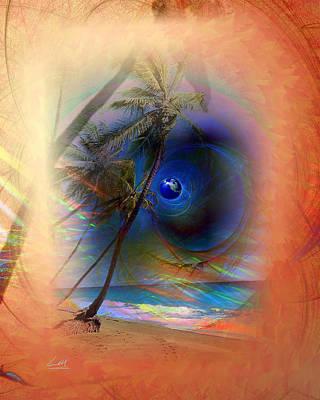Digital Art - Serenity Beach by MrLou