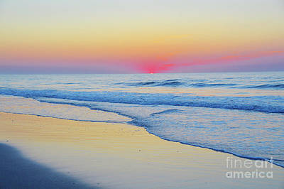 Serenity Beach Sunrise Art Print