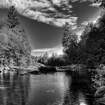 Photograph - Serenity Below Buttermilk Falls by David Patterson