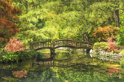 Serenity Bridge Art Print