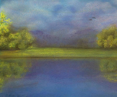Pastel - Serenity By The Water by Barbara J Blaisdell